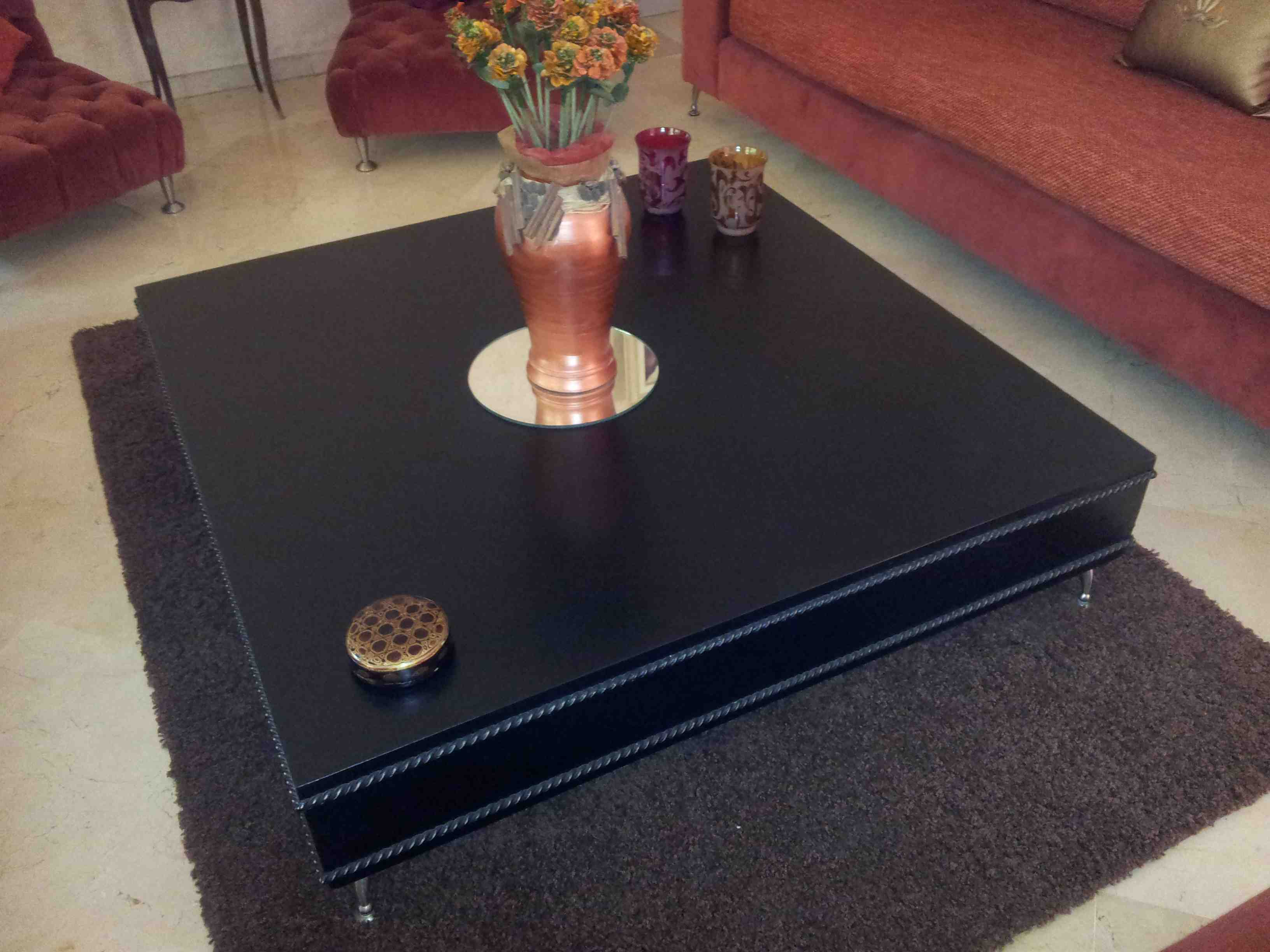 Salon Marocain Moderne Enferforge # Table Basse Ronde Hippie